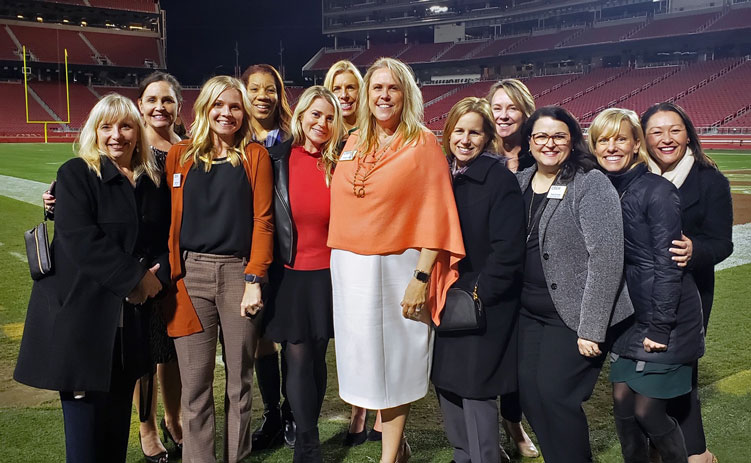 CREW Network board of directors at Levi Stadium