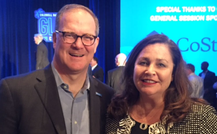 Coldwell Banker Commercial (CBC) CEO Charlie Young with CREW Network CEO Wendy Mann