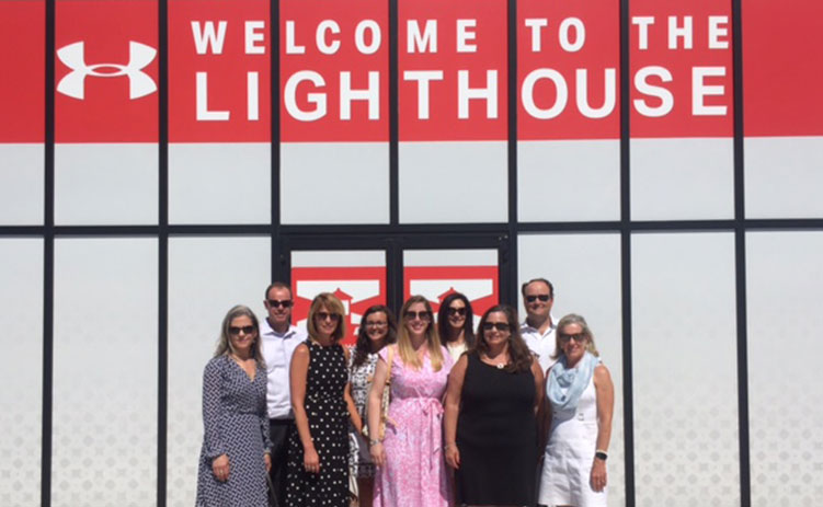 CREW Network CEO Wendy Mann and members of CREWBaltimore visit Under Armour Project Lighthouse