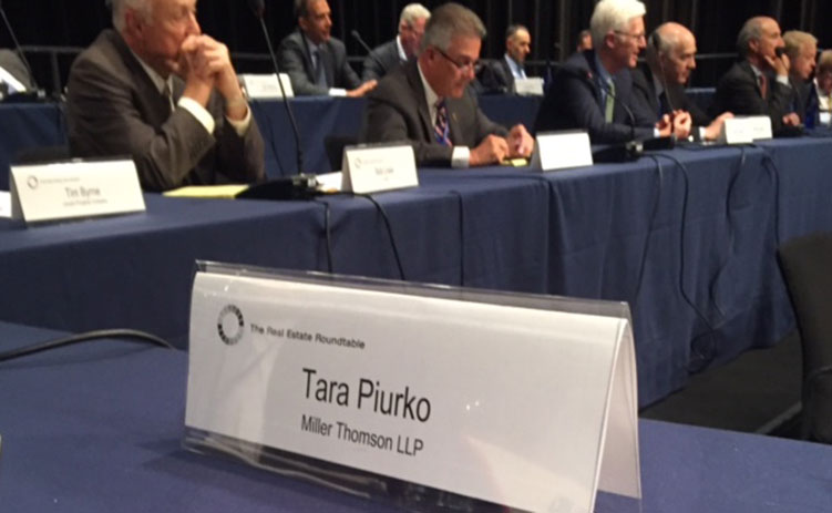 Tara Piurko at The Real Estate Roundtable