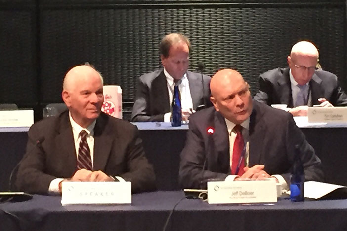Left to right Senator Ben Cardin (D-MD) and CEO of RER Jeffrey DeBoer.