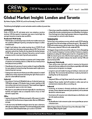 Global Market Insight: London and Toronto